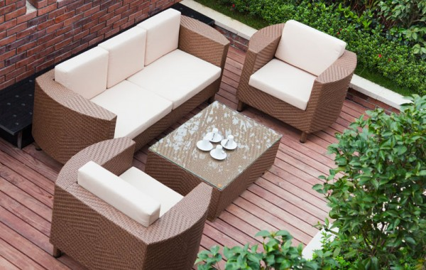 4-Piece  Outdoor  Sofa  Chair Set